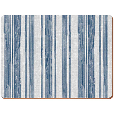 Everyday Home Blue Textured Stripe Pack Of 2 Large Placemats