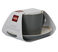 La Cafetiere Barcelona Cup And Saucer Matte Cool Grey