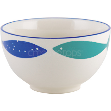 M By Mikasa Into The Blue Cereal Bowl