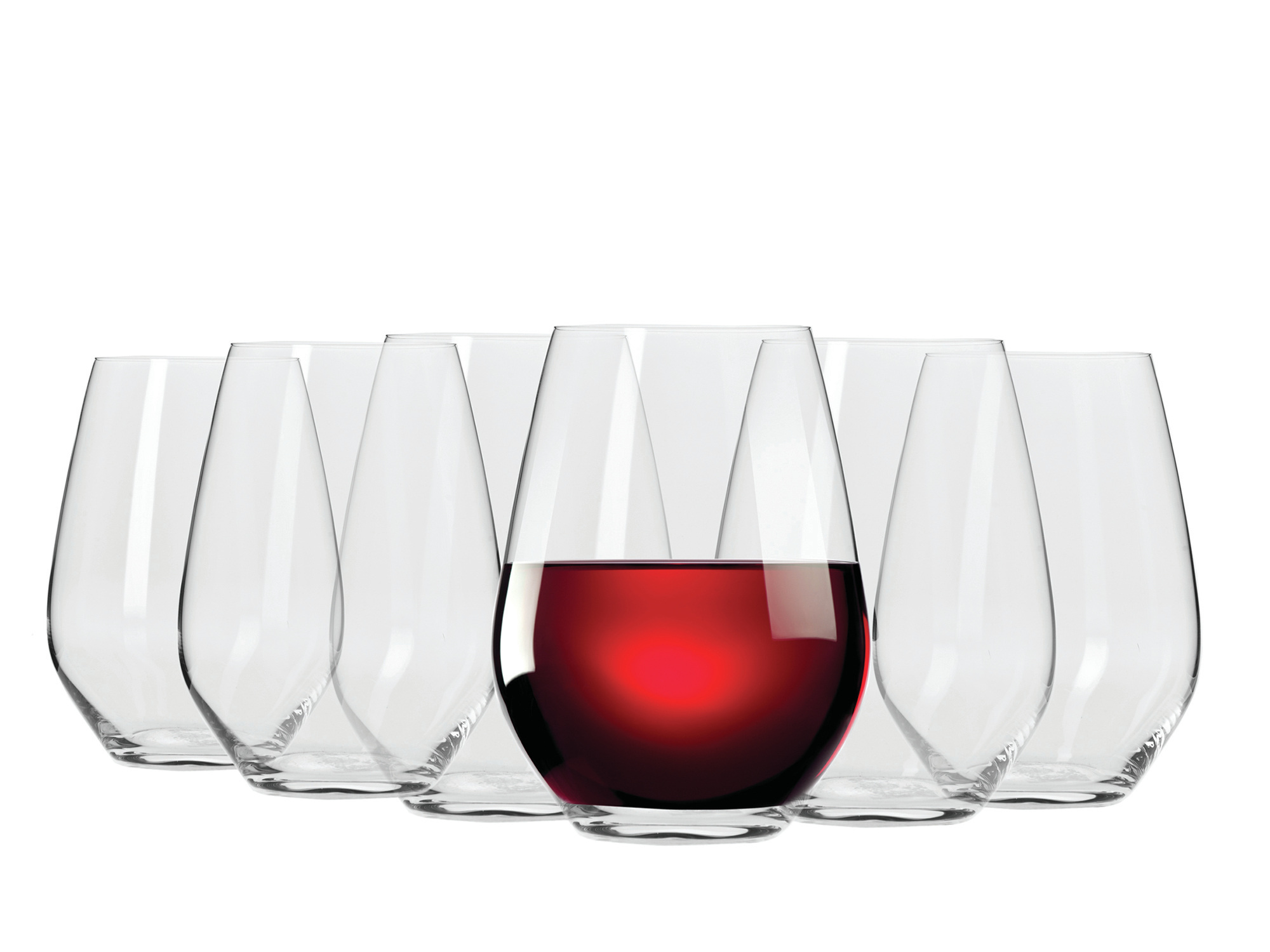 Maxwell & Williams Vino Set Of 6 540Ml Stemless Red Wine Glasses Gift Boxed