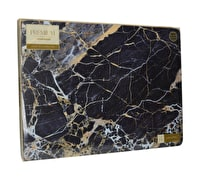 Creative Tops Navy Marble Pack Of 4 Large Premium Placemats