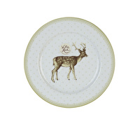 Katie Alice Highland Fling Side Plate Green Spot Stag