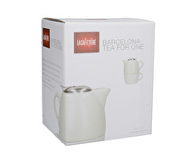 La Cafetiere Barcelona Tea For One White