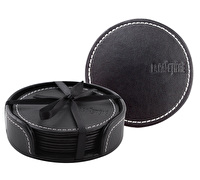 La Cafetiere Embossed Faux Leather Pack Of 4 Coasters