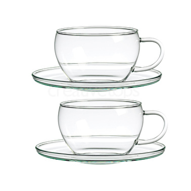 Randwyck Lotus 250ml Set Of 2 Cup And Saucers