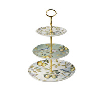 The English Table Spring Fruits 3 Tier Cake Stand