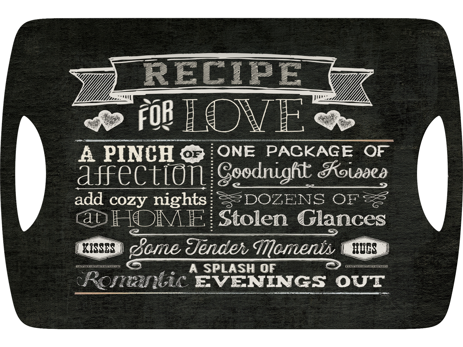 Creative Tops Recipe For Love Large Luxury Handled Tray