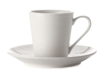 Casa Domani Casual White Evolve 90Ml Demi Cup And Saucer