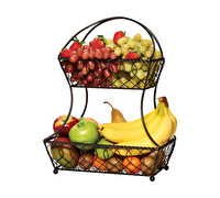 Mikasa Gourmet 2 Tier Flatback Basket Loop And Lattice Wire
