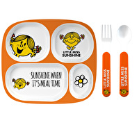 Mr Men Little Miss Sunshine 4pc Melamine Dinner Set