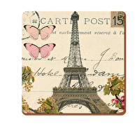 Everyday Home Paris Postcard Pack Of 4 Coasters