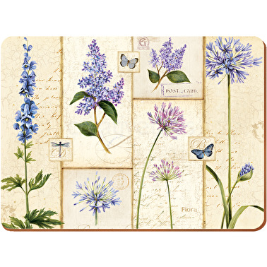 Creative Tops Etude De Fleurs Pack Of 4 Large Premium Placemats