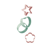Katie Alice Cottage Flower Set Of 4 Cookie Cutters Pink And Green