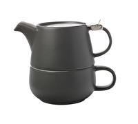Maxwell & Williams Tint 450Ml Tea For One Charcoal