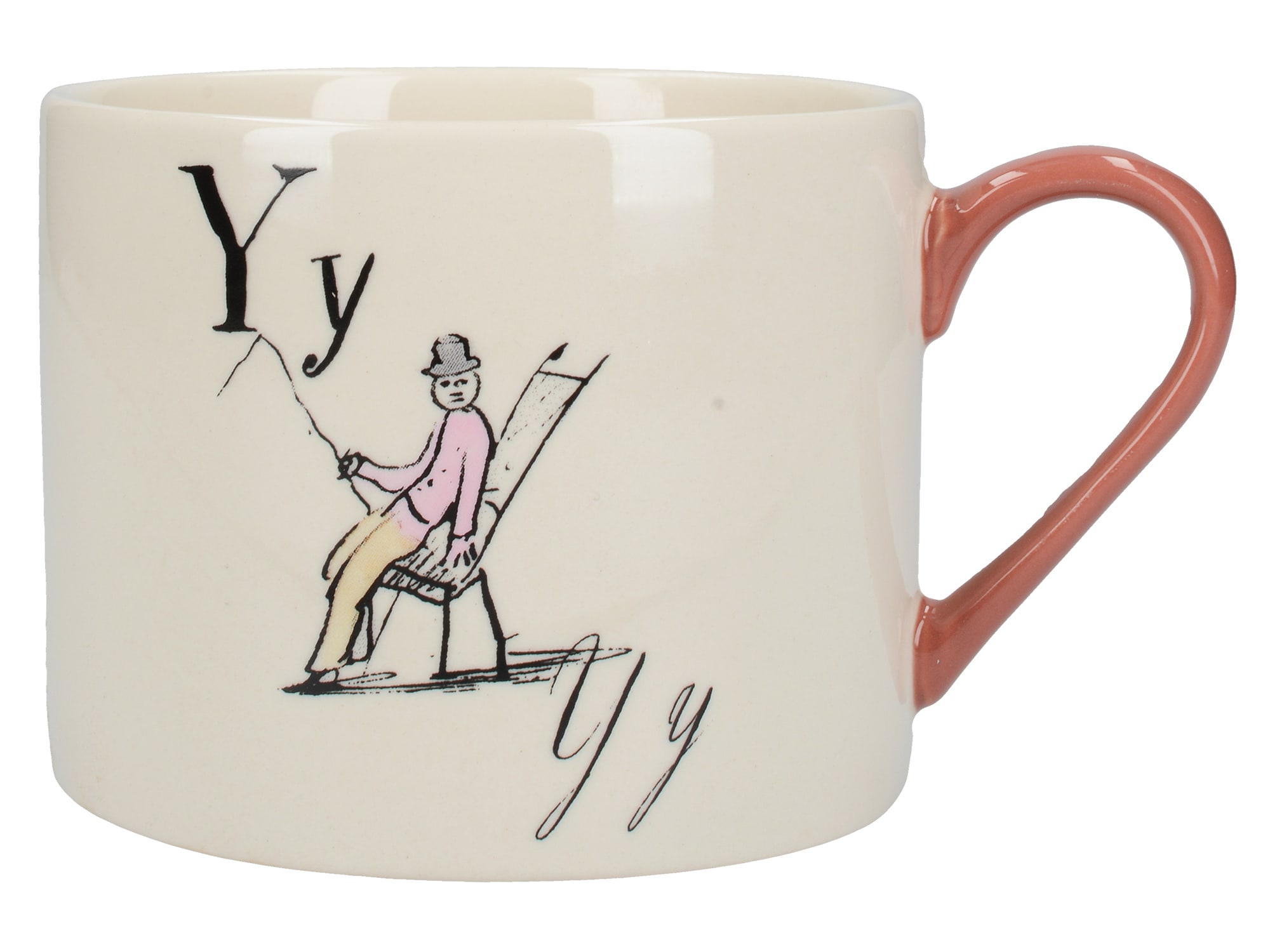 Victoria And Albert Nonsense Alphabet Squat Can Mug Y