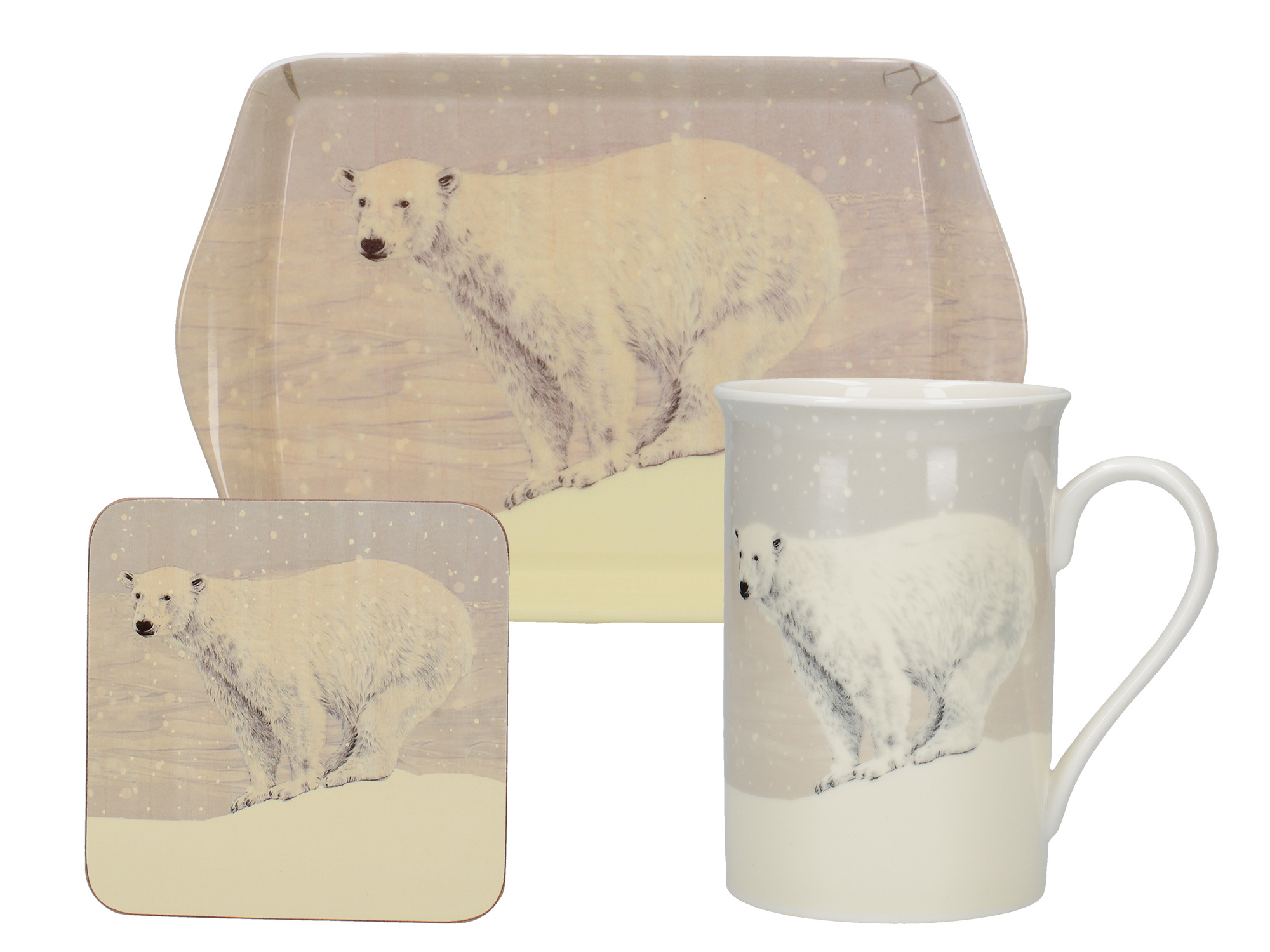 Creative Tops Snow Scenes Polar Bear Time For Tea