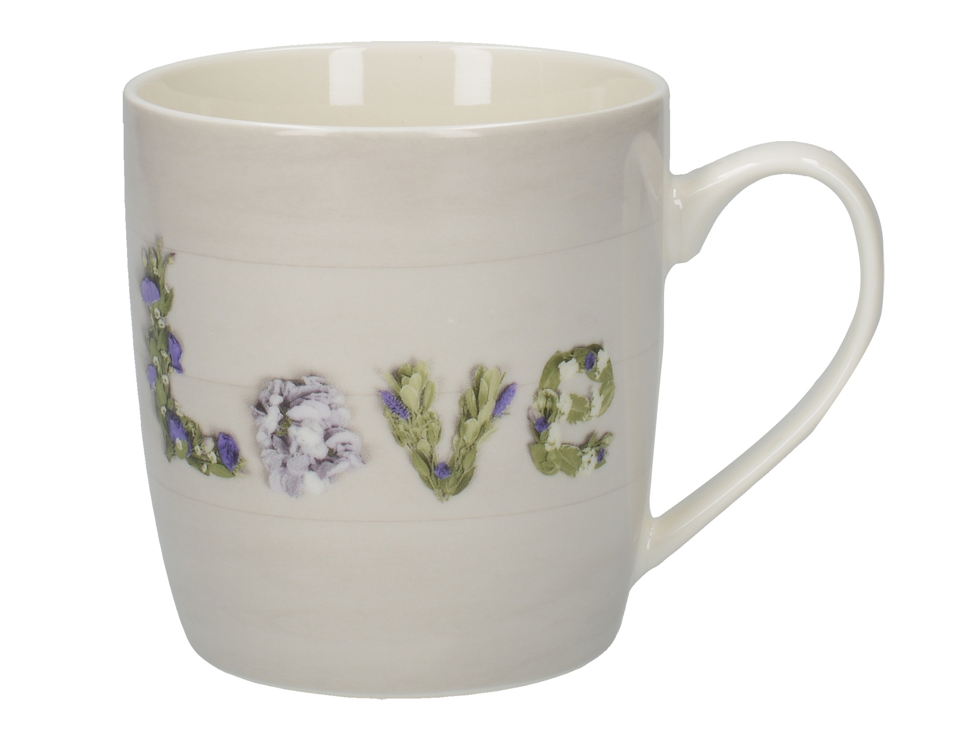 Everyday Home Floral Love Barrel Mug