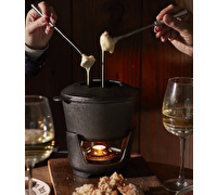 Creative Tops Gourmet Cheese Cast Iron Fondue Set