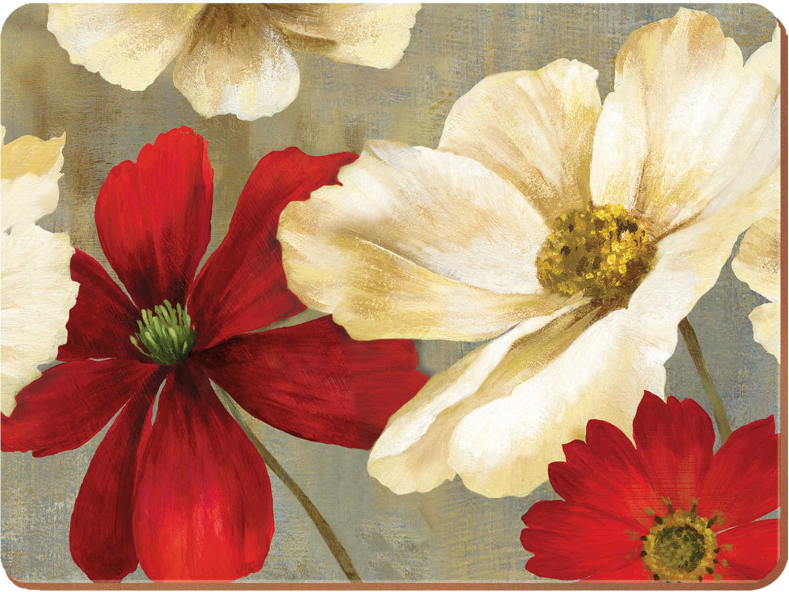 Creative Tops Flower Study Pack Of 4 Large Premium Placemats