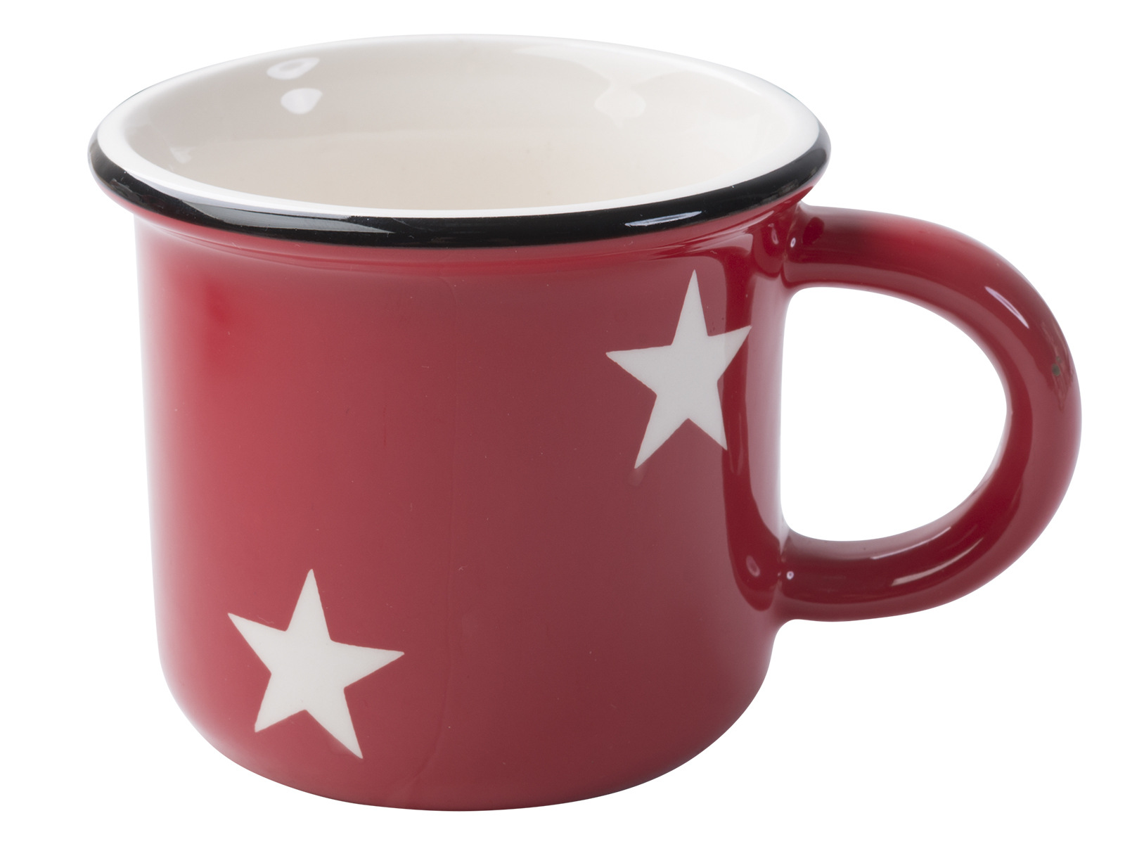 Creative Tops Creative Christmas Red Stars Enamel Effect Mug
