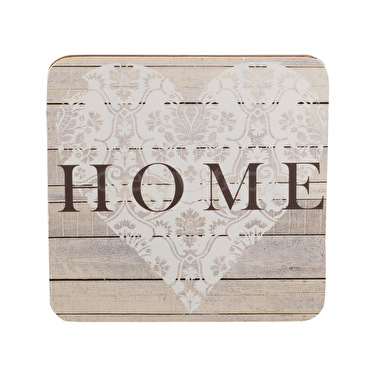 Everyday Home Home Pack Of 4 Coasters