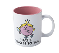Mr Men Little Miss Princess Slogan Mug Pink