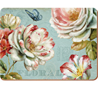 Creative Tops Romantic Garden Pack Of 6 Premium Placemats