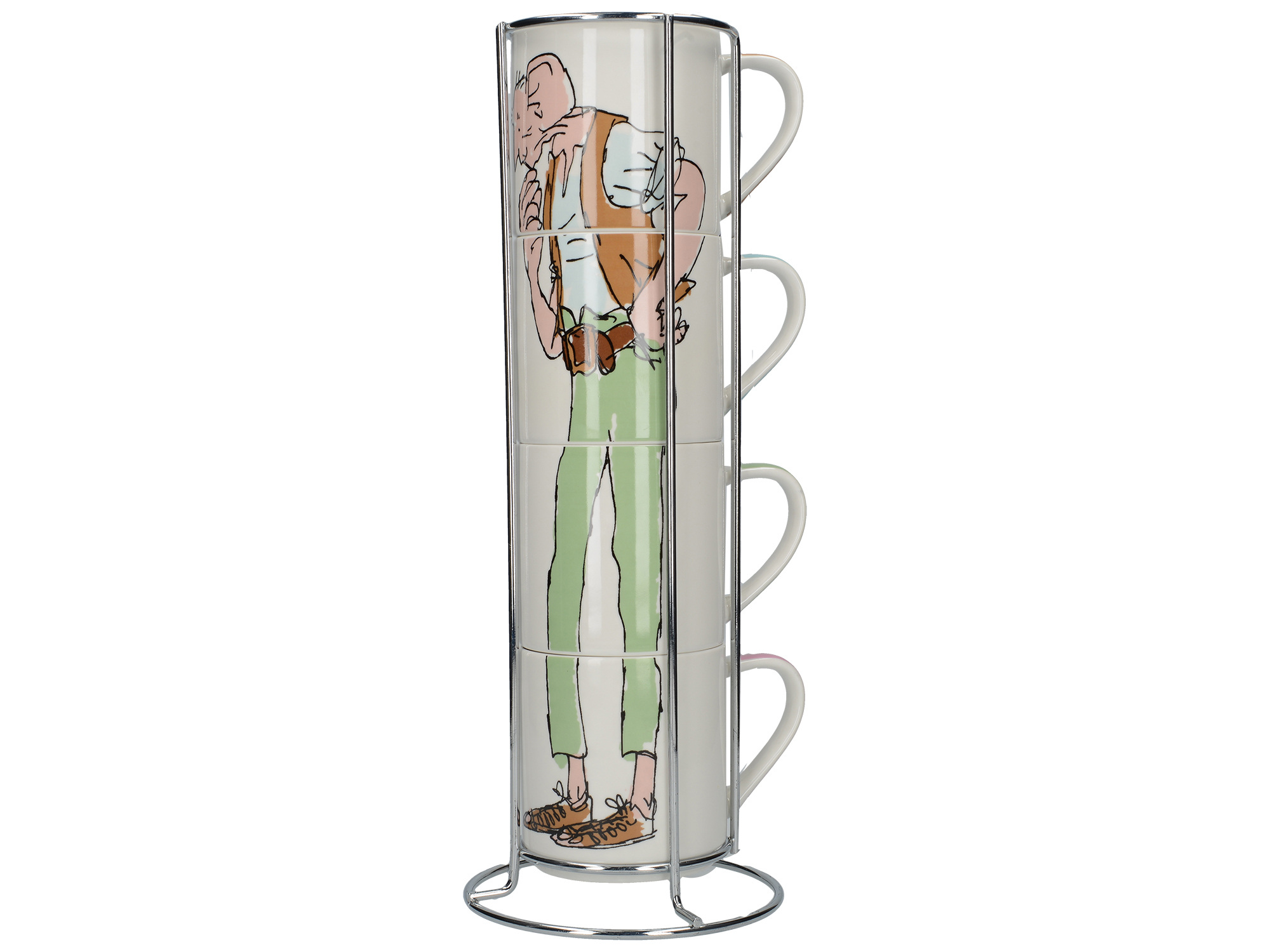 Roald Dahl Bfg Set Of 4 Stacking Mugs