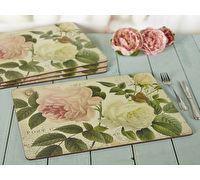 Creative Tops Rose Garden Pack Of 4 Large Premium Placemats