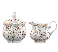 Katie Alice Ditsy Floral Sugar Bowl And Creamer White Floral