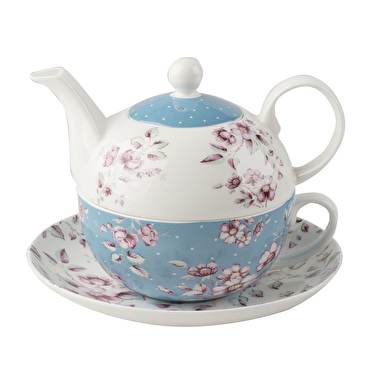 Katie Alice Ditsy Floral Tea For One With Saucer