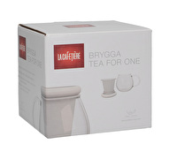La Cafetiere Glass Tea For One White