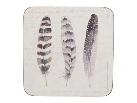 Creative Tops Feathers Pack Of 6 Premium Coasters