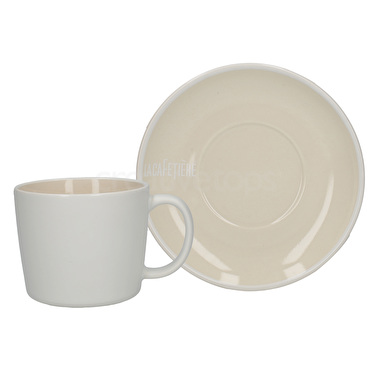 La Cafetiere Barcelona Cup And Saucer White