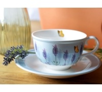 Kew Gardens Lavender Cup And Saucer