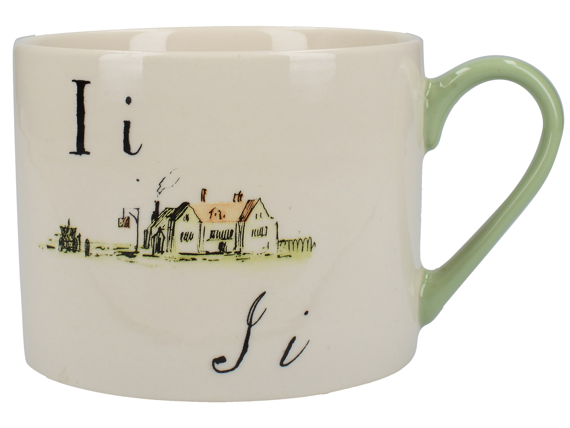 Victoria And Albert Nonsense Alphabet Squat Can Mug I