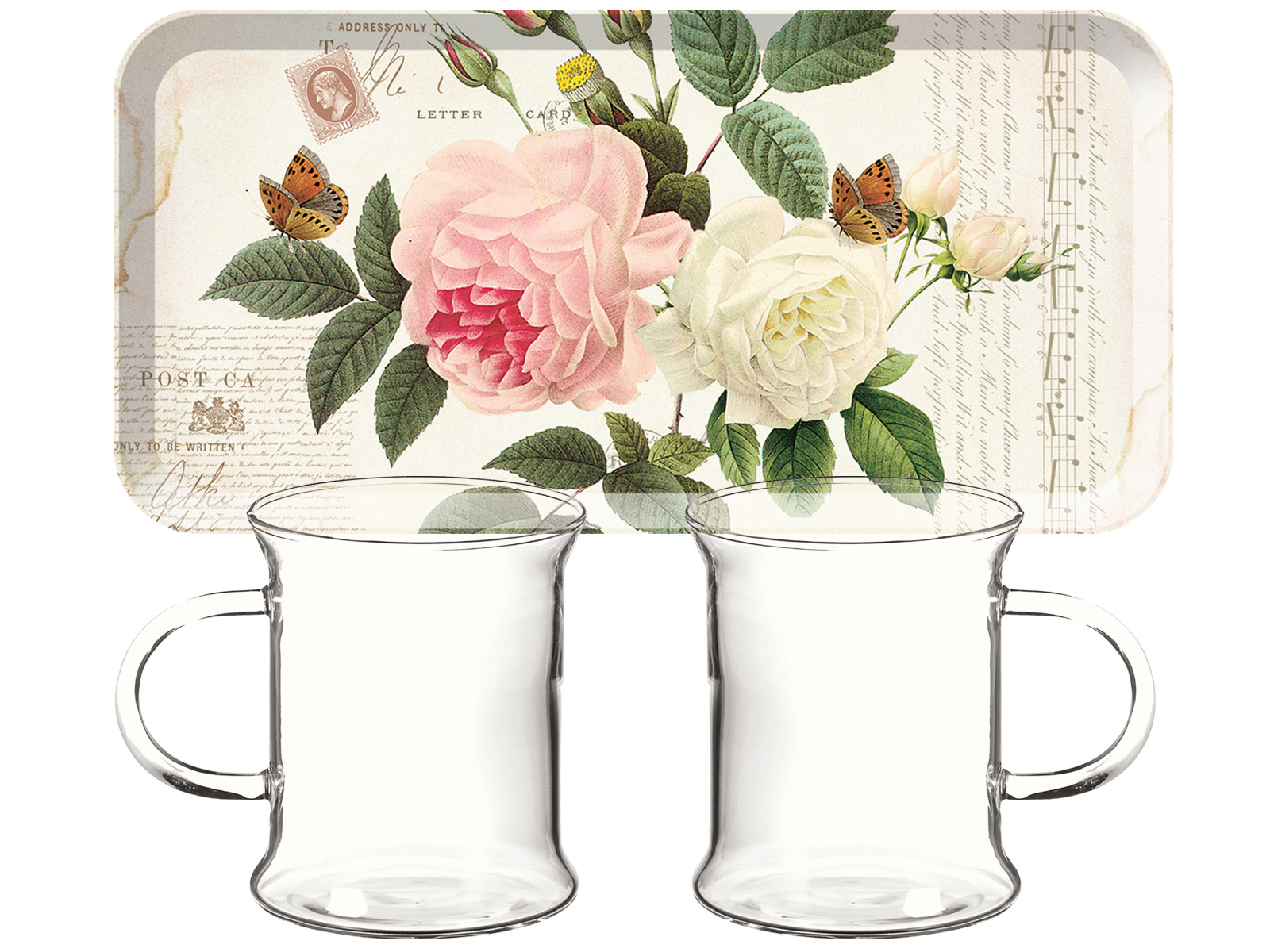 Creative Tops Rose Garden Glass Tea For Two