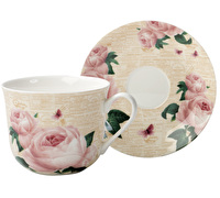 The English Table Roses In Paris Breakfast Cup And Saucer