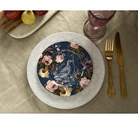 Katie Alice Wild Apricity Navy Birds Side Plate