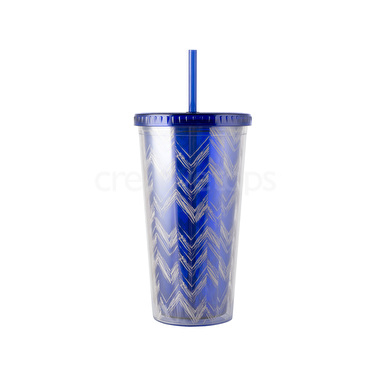 Creative Tops Blue Chevron Iced Beverage Acrylic Cup