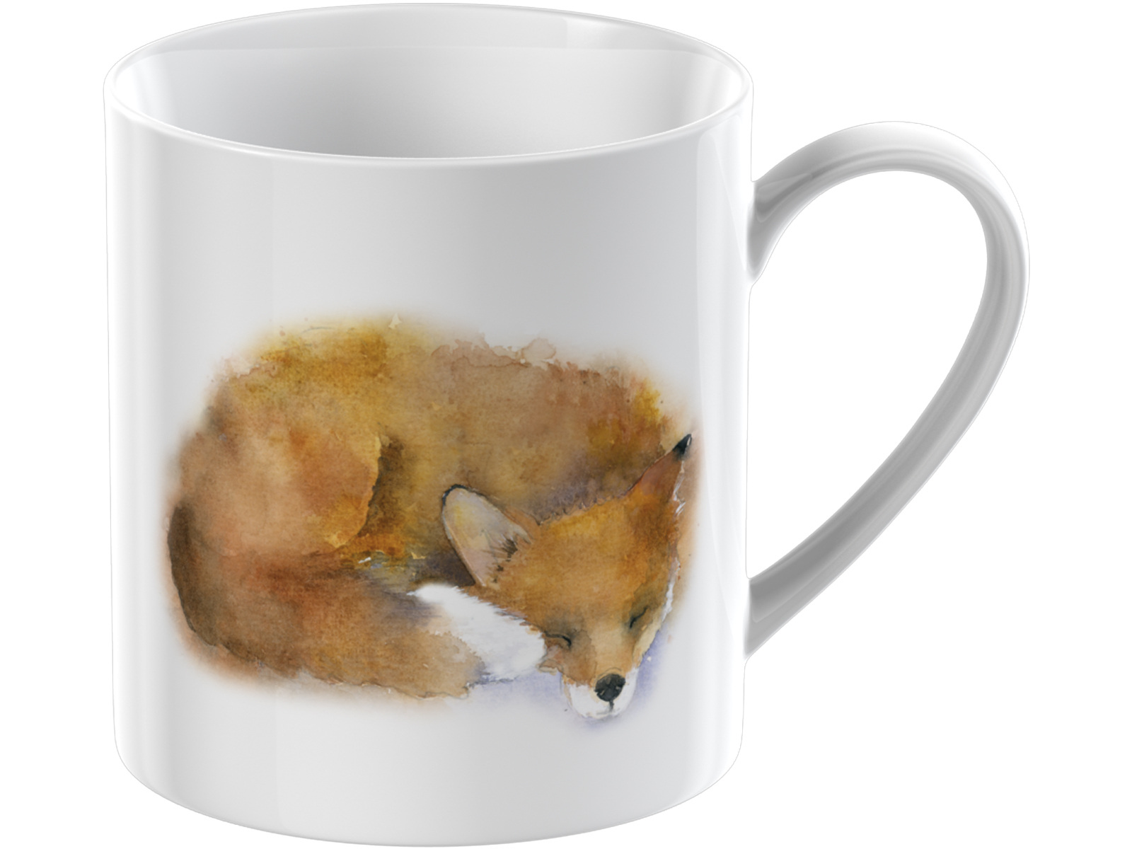 Everyday Home Watercolour Fox Can Mug