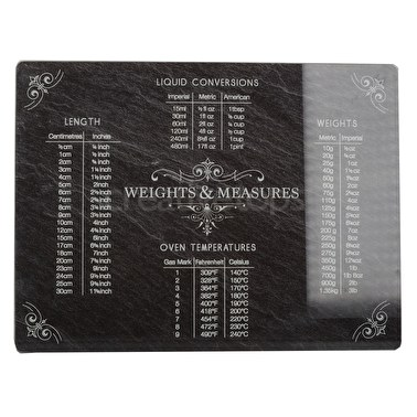Creative Tops Slate Effect Weights And Measures Work Surface Protector
