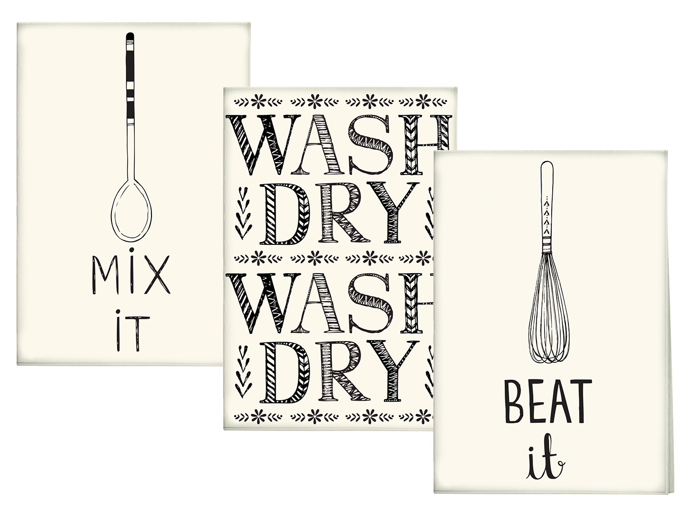 Creative Tops Bake Stir It Up Set Of 3 Tea Towels