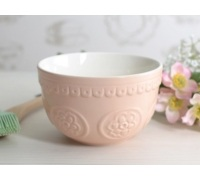 Katie Alice Cottage Flower Embossed Pudding Bowl Pink