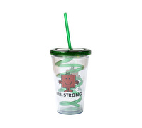 Mr Men Mr Strong Beverage Cup With Curly Straw