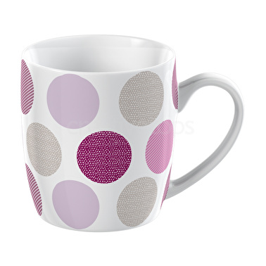 Everyday Home Pink Textured Spot Barrel Mug