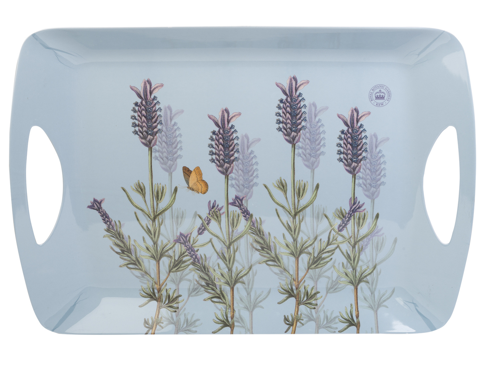 Kew Gardens Lavender Large Luxury Handled Tray