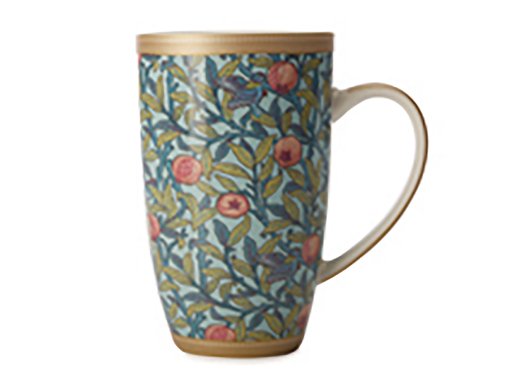 Maxwell & Williams William Morris Bird N Pomegranate 420Ml Coupe Mug Gift Boxed