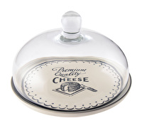 Creative Tops Gourmet Cheese Glass Dome With Ceramic Plate