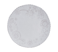 M By Mikasa Hush Embossed Dinner Plate